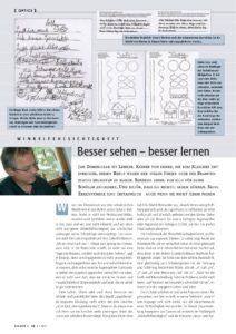 Veröffentlichung Jan Dominiczak Besser sehen - besser lernen