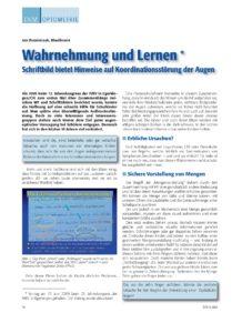 Veröffentlichung Jan Dominiczak Wahrnehmung und Lernen