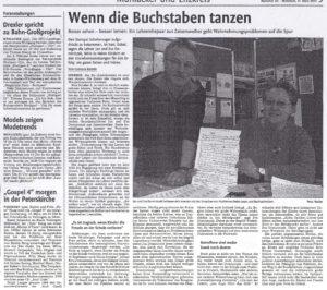 Mühlacker Tagblatt Zeitung Jan Dominiczak Wenn die Buchstaben tanzen